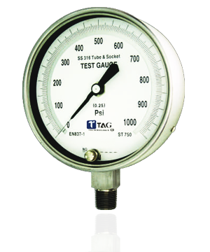 All Stainless Steel Test Gauge - ECD : TGS