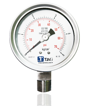 All Stainless Steel Pressure Gauge : GS100