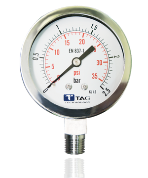 All Stainless Steel Pressure Gauge : GS60